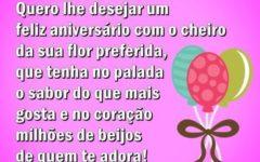 Mensagens de Feliz Aniversario para Esposa para Face e Whats