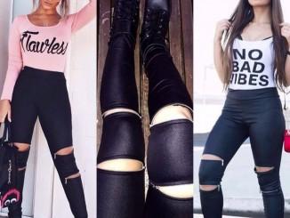 modelos de calças cirre com zíper