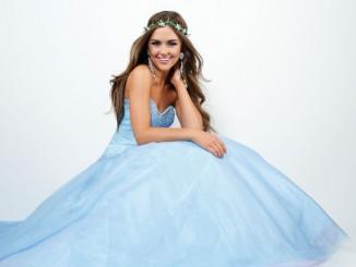 vestidos longos para debutantes azul