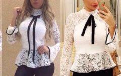 Modelos de Blusas de Renda Peplum Para Mulheres com Estilo