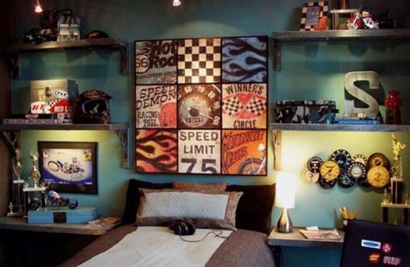 Dicas de decora o para quarto retr ideias mix - Decoracion habitacion juvenil masculina ...