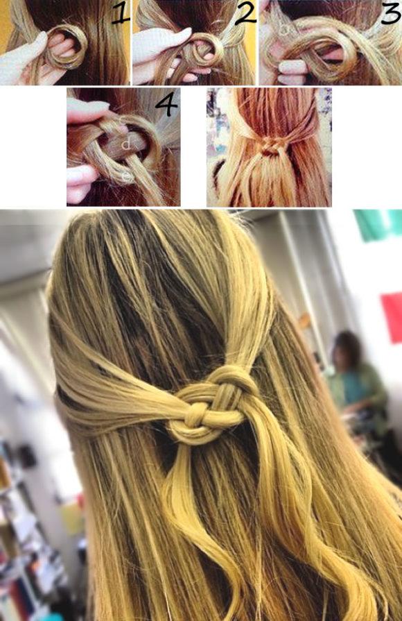 penteado com trança infinita