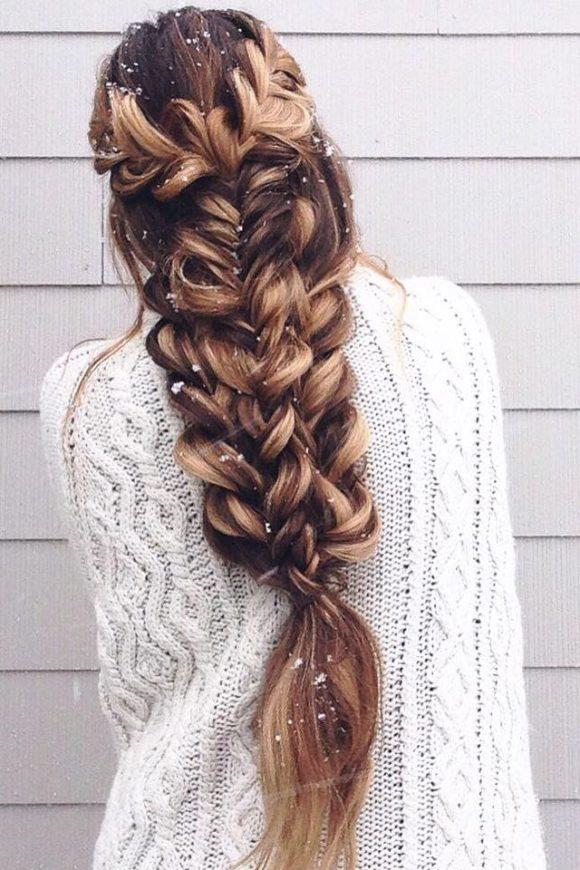 penteado rapunzel com trança