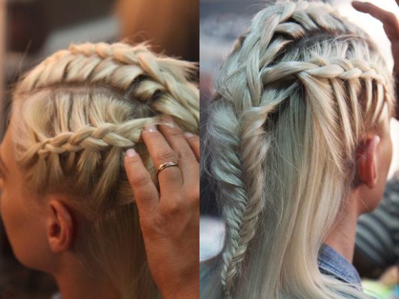 penteados com tranças viking