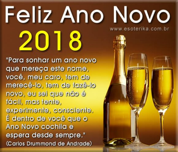 Mensagens De Feliz Ano Novo.... Feliz 2018!